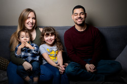 portrait de famille façon studio