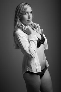 shooting boudoir noir et blanc
