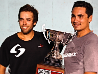 3 & Counting.  Paddleball Pro Division 3 WallBall World Champs Emmett Coe and Brian Pineda Inten