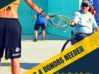 MRF Charity Pro-Am Doubles: We need Players & Donors