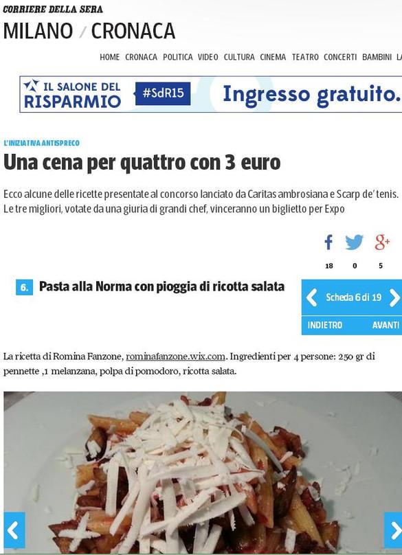 Splendida giornata sul Corriere della Sera Milano on line