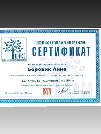 Консультант Фэн Шуй Анна Боровик