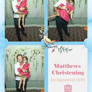 Matthew's Christening