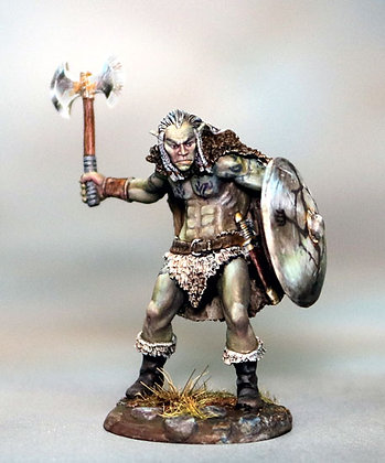 Male Half Orc Warrior with Battle Axe - DSM7387