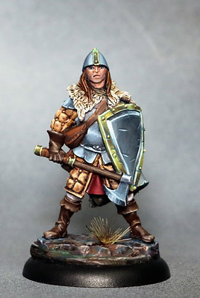Male Warrior with Battle Axe and Shield - DSM7321