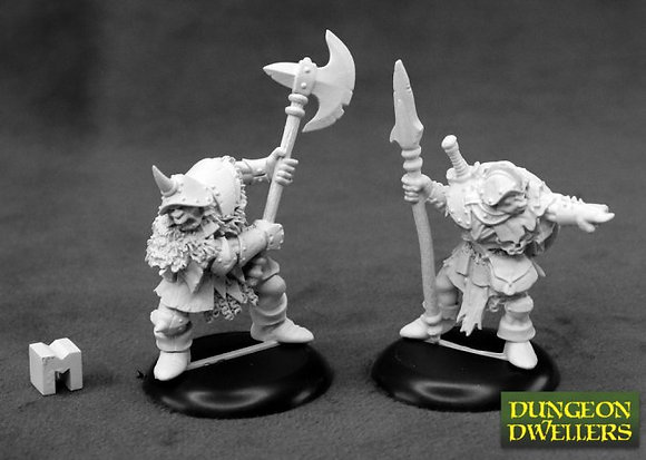 Reaper 07014, DUNGEON DWELLERS: ORC WARRIORS (2), REAPER DUNGEON DWELLERS