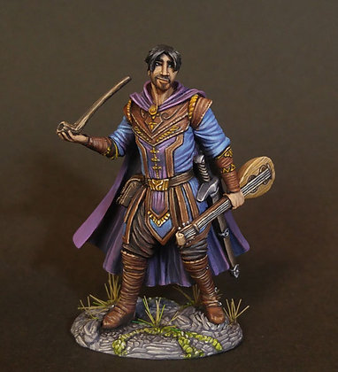Male Bard with Pipe and Lute - DSM7491
