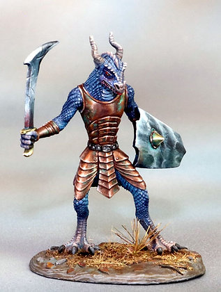 Dragonkin Warrior with Sword and Shield - DSM7365