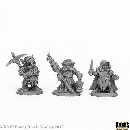 Reaper 44060, DEEP GNOME WARRIORS (3), BONES BLACK
