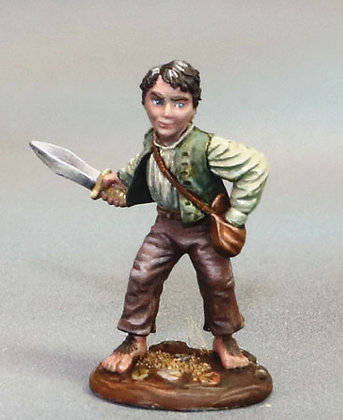 Halfling Rogue with Dagger - DSM7362