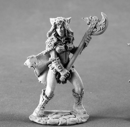 Reaper 04008, KYRIE, FEMALE BARBARIAN, Dark Heaven Legends