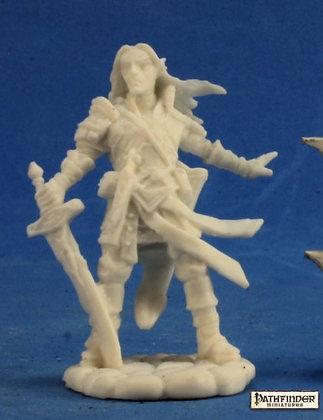 Reaper 89028, ARAEL, HALF ELF CLERIC, PATHFINDER BONES