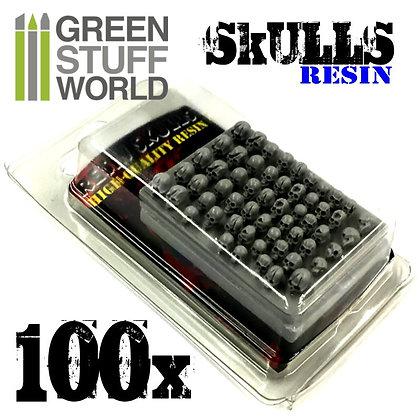 100x Crânes Humains en résine - 363438