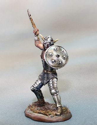 Male Warrior with Axe and Shield - DSM7360