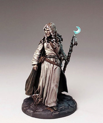 Marching Female Mage with Staff - DSM7379