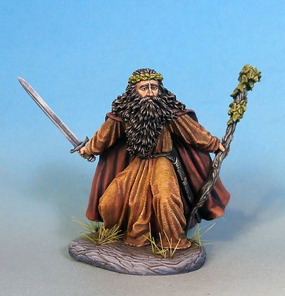 Male Druid with Staff and Sword - DSM7348