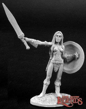 Reaper 02773, TANA FEMALE BARBARIAN, Dark Heaven Legends
