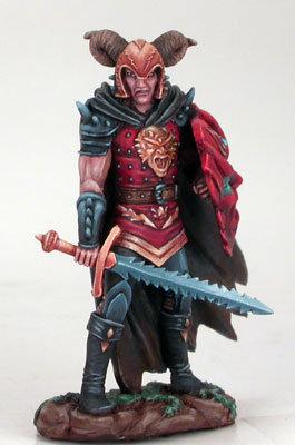 Male Anti-Paladin with Bastard Sword/Shield - DSM4102