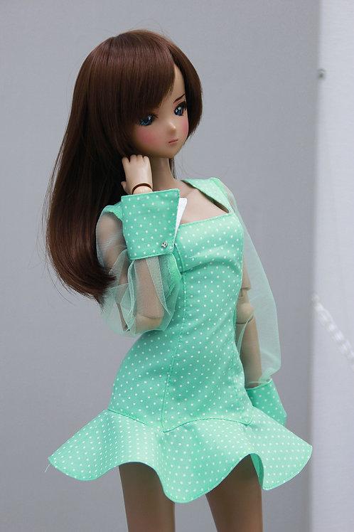 Dress, (mint) for Smart Doll, 1/3, BJD SD13