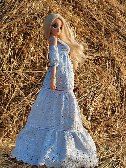 Blue cotton dress for Smart Doll. 1/3 doll