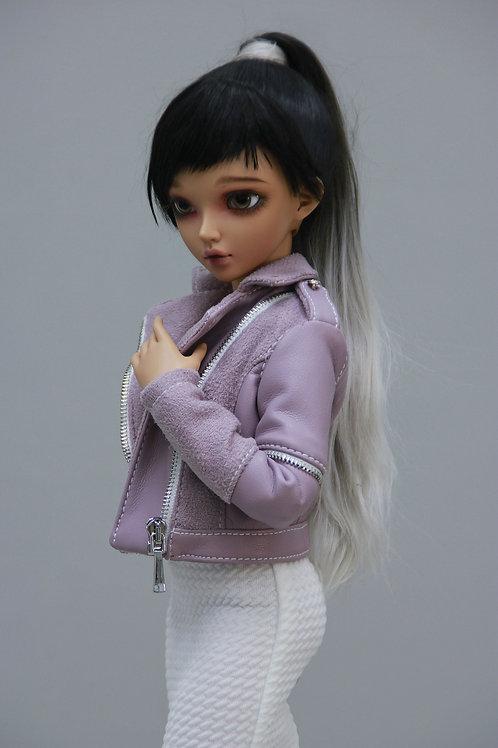 1/4 MSD bjd leatherette jacket for Minifee