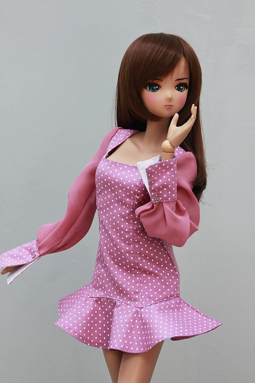 Dress, (pink) for Smart Doll, 1/3, BJD SD13