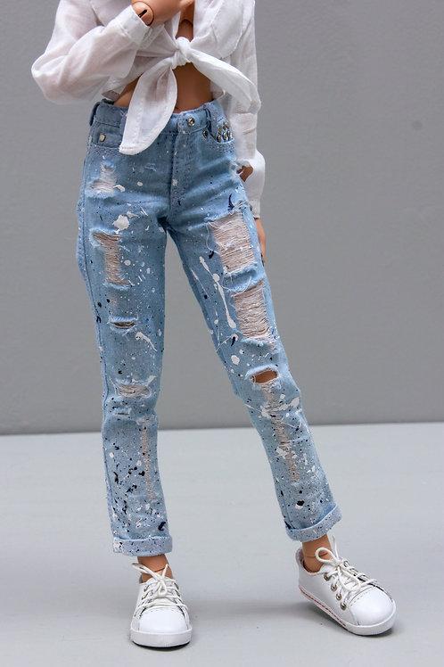 1/4 MSD bjd boyfriend jeans for Minifee A line, New A line