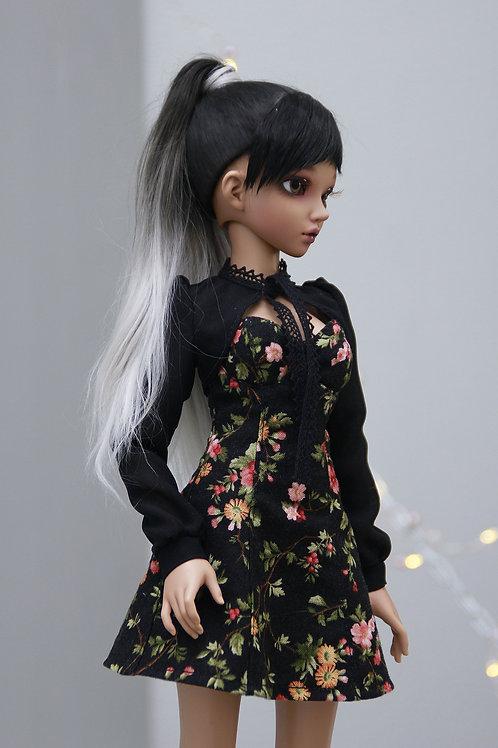 Dress and Bolero, black 1/4 MSD bjd for Minifee