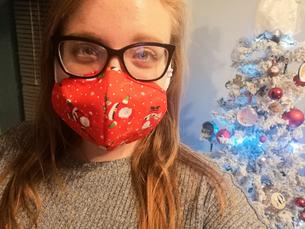 DIY festive face masks