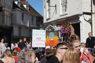 """""""There is no business on a dying planet"""" - workers strike across Canterbury for climate ch"""