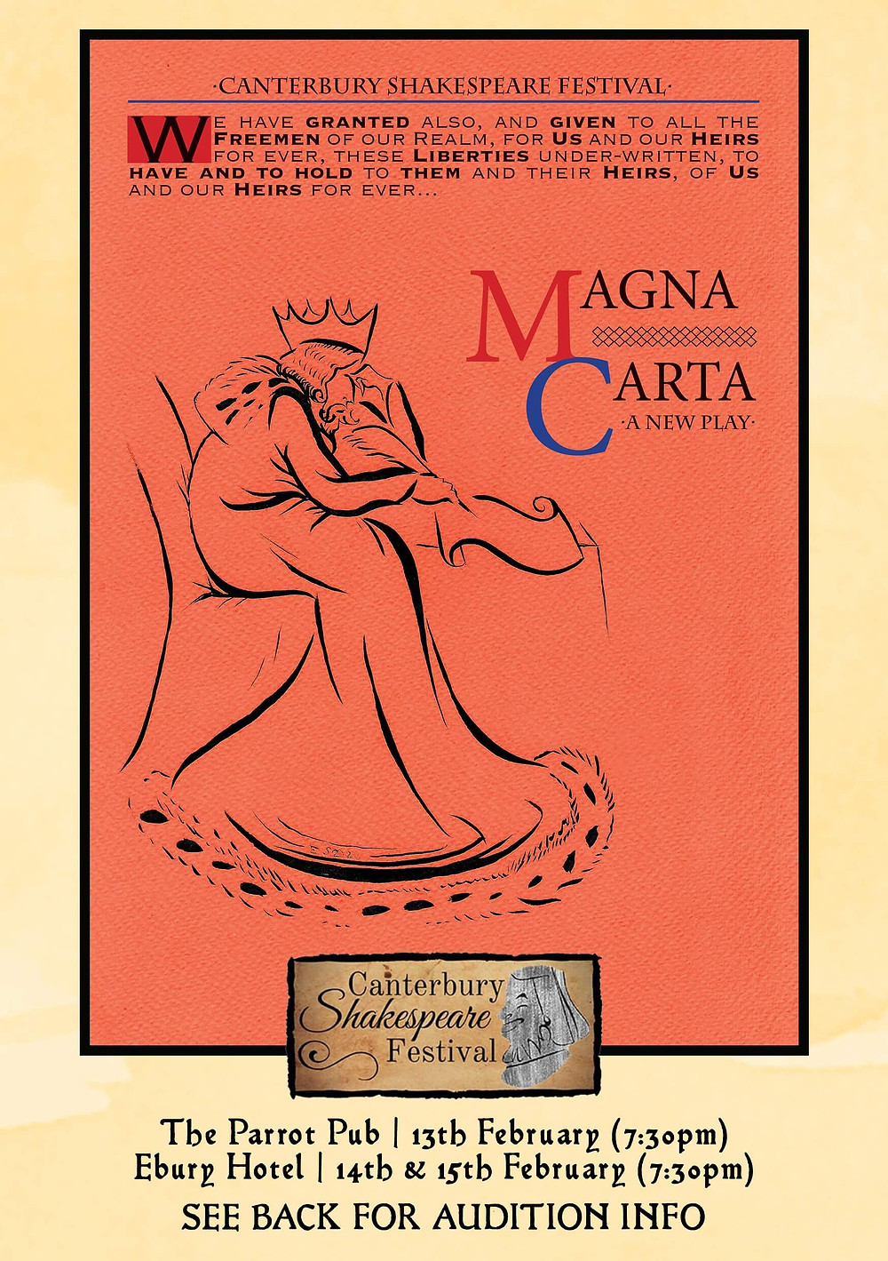 A poster of Magna Carta by Visit Canterbury