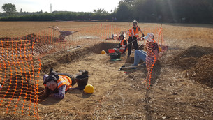 Students and staff excavate ancient site on Canterbury campus