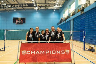 Ladies' Badminton Team wins perfect double