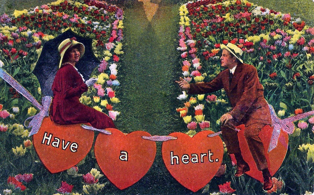 Vintage Valentine Day Postcard - Have A Heart, Circa 1916