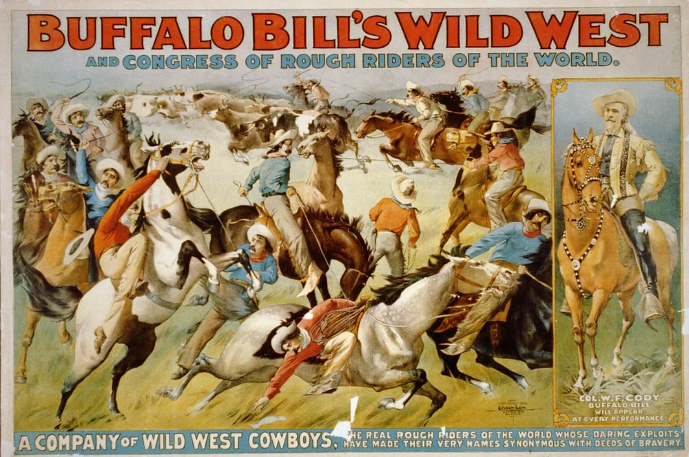 Buffalo Bill and his Wild West show by Wikimedia Commons