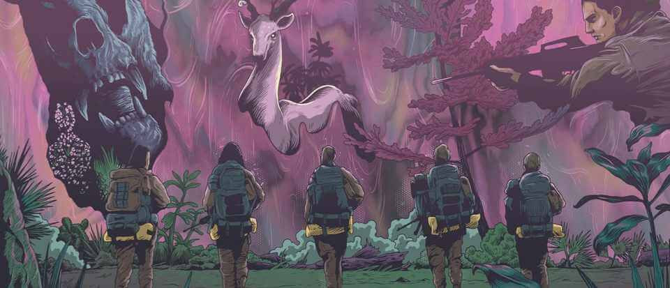 Art image inspired by the film adaptation of Annihilation (2014)