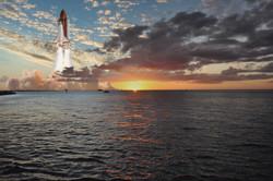 Shuttle Sun Set