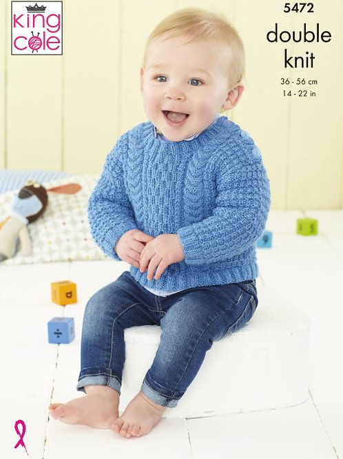 King Cole Jumper and Jacket in Baby DK (Children's)