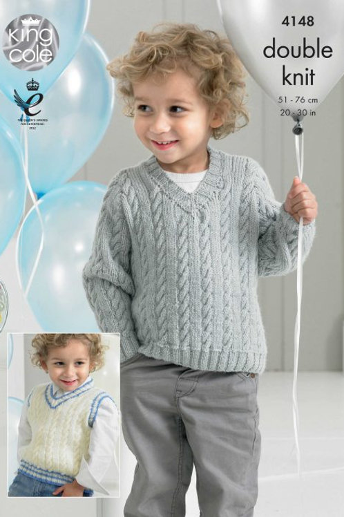 King Cole Slipover and Sweater in Comfort DK (Children's)