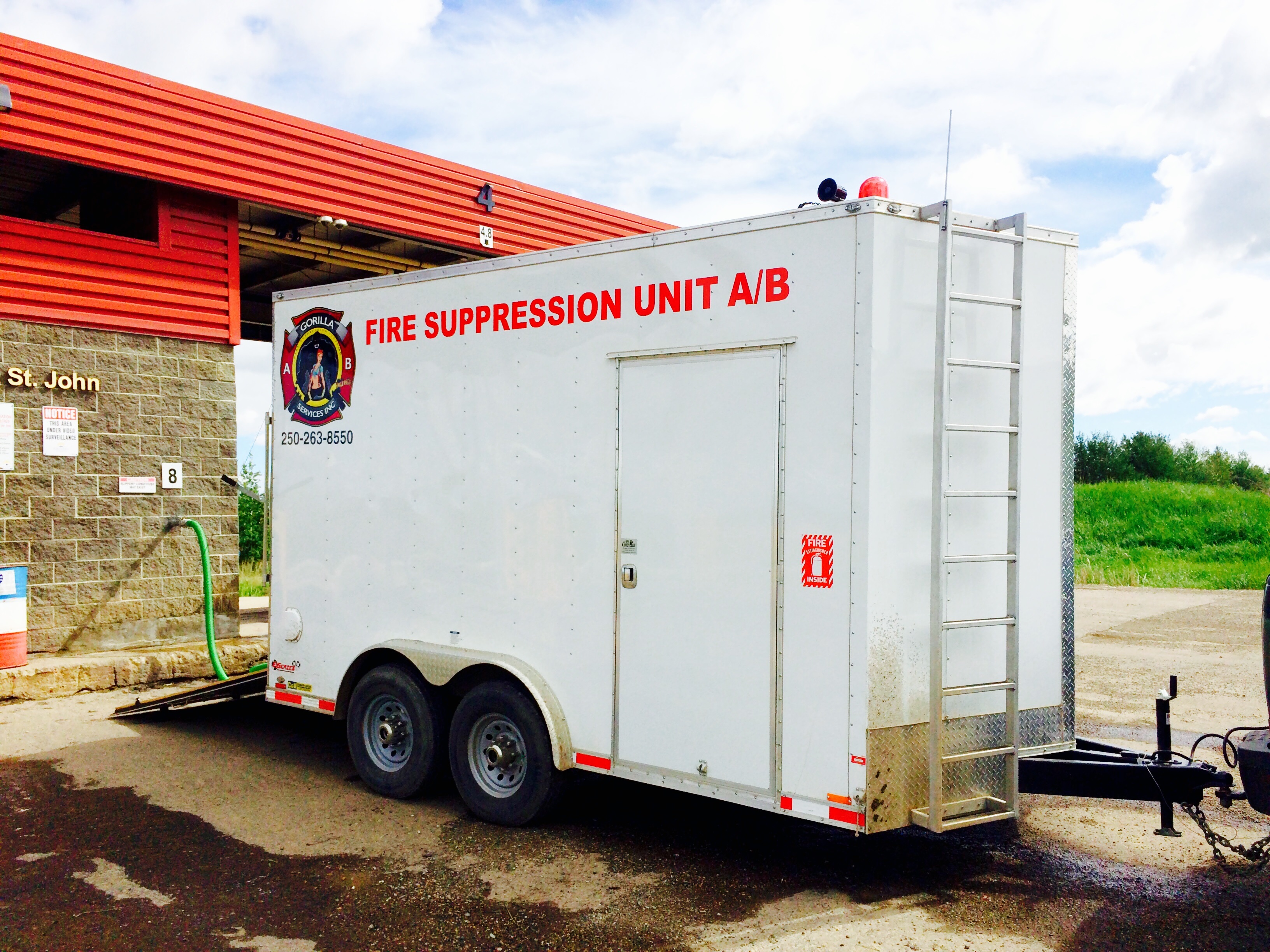 Fire Suppression side view