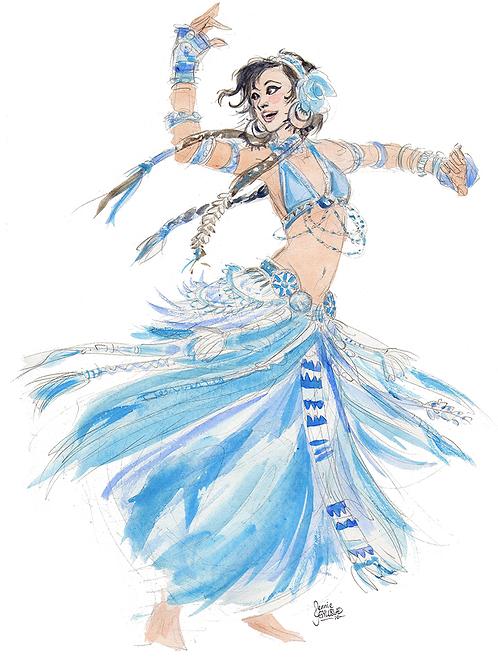 The Blue Belly Dancer