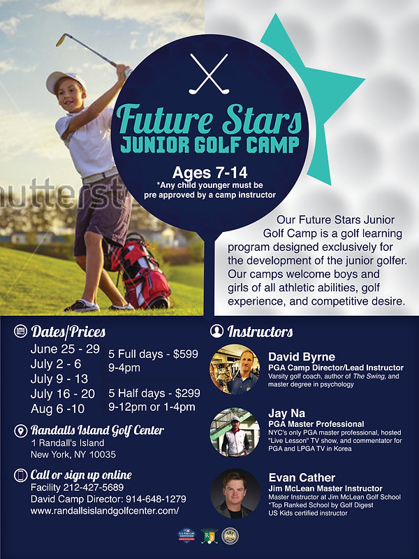 Junior Golf Camps in Manhattan and new york city at Randalls Island Golf Cente