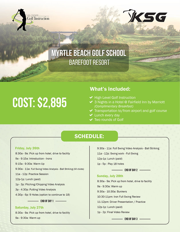 Golf Lessons available in NYC and Myrtle Beach