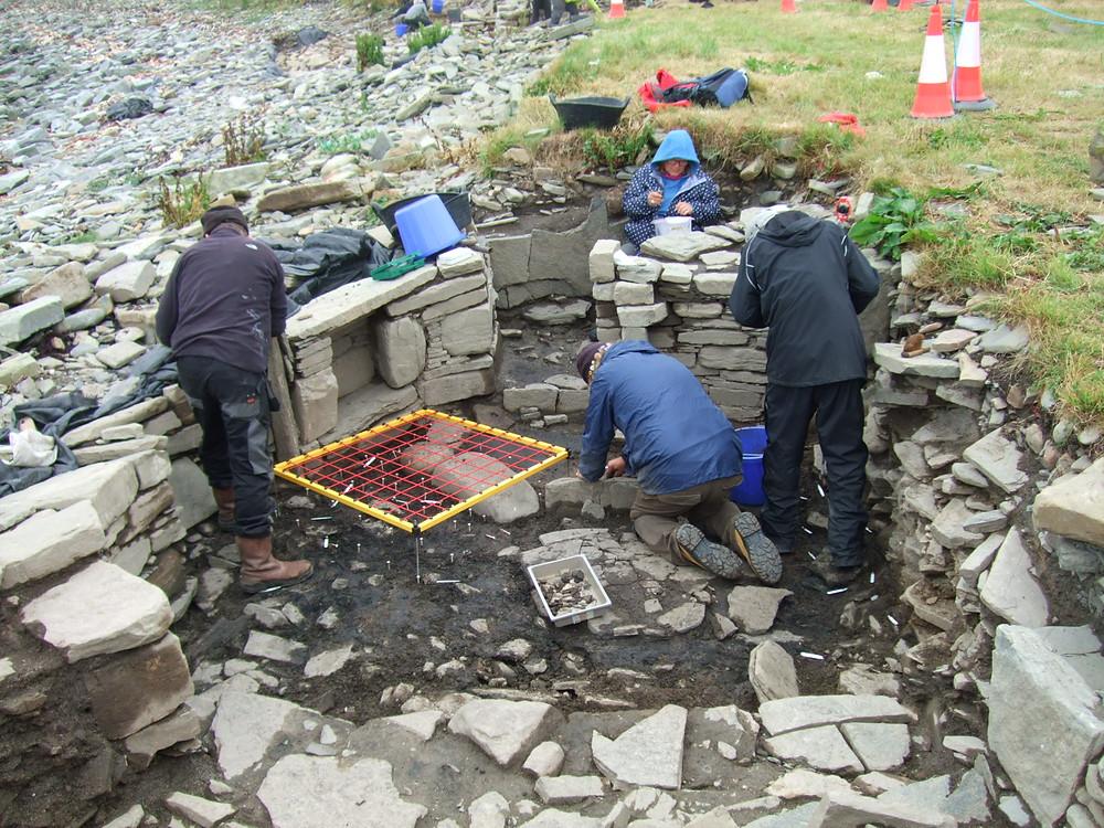 Sampling and recording the Pictish smithy at Swandro