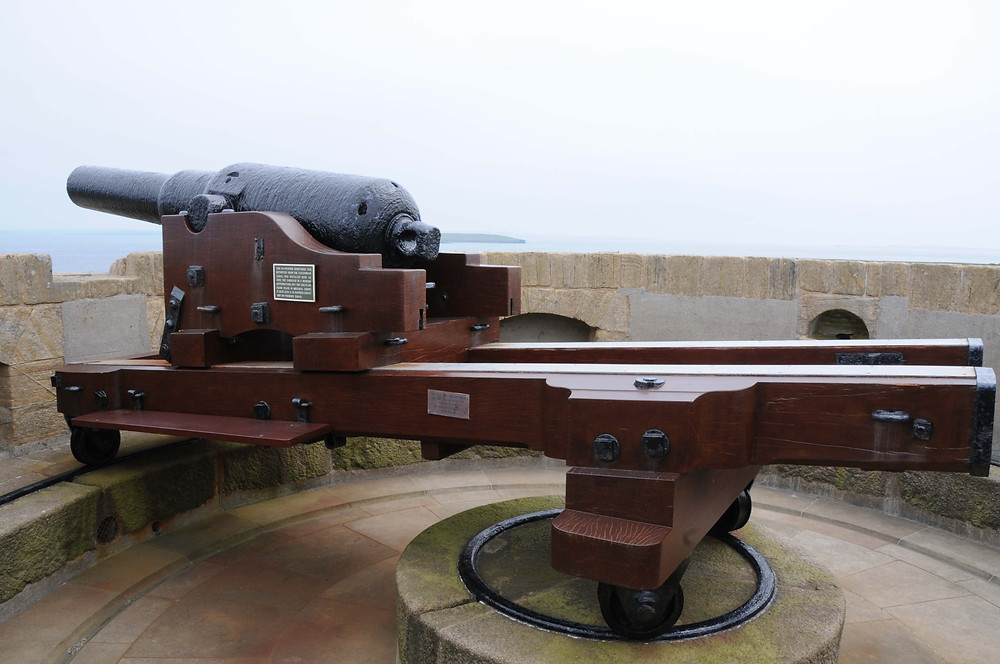 The Armstrong gun at Hackness, Longhope, Orkney