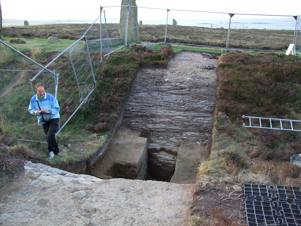 2008 trench across the ditch at the south of the Ring of Brodgar