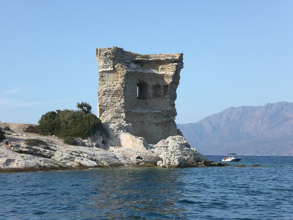 The remains of the Torra di Mortella in Corsica