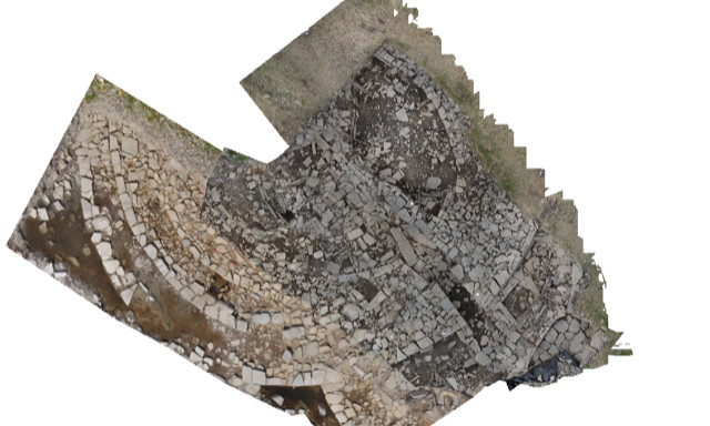 Composite of the chambered tomb at Swandro