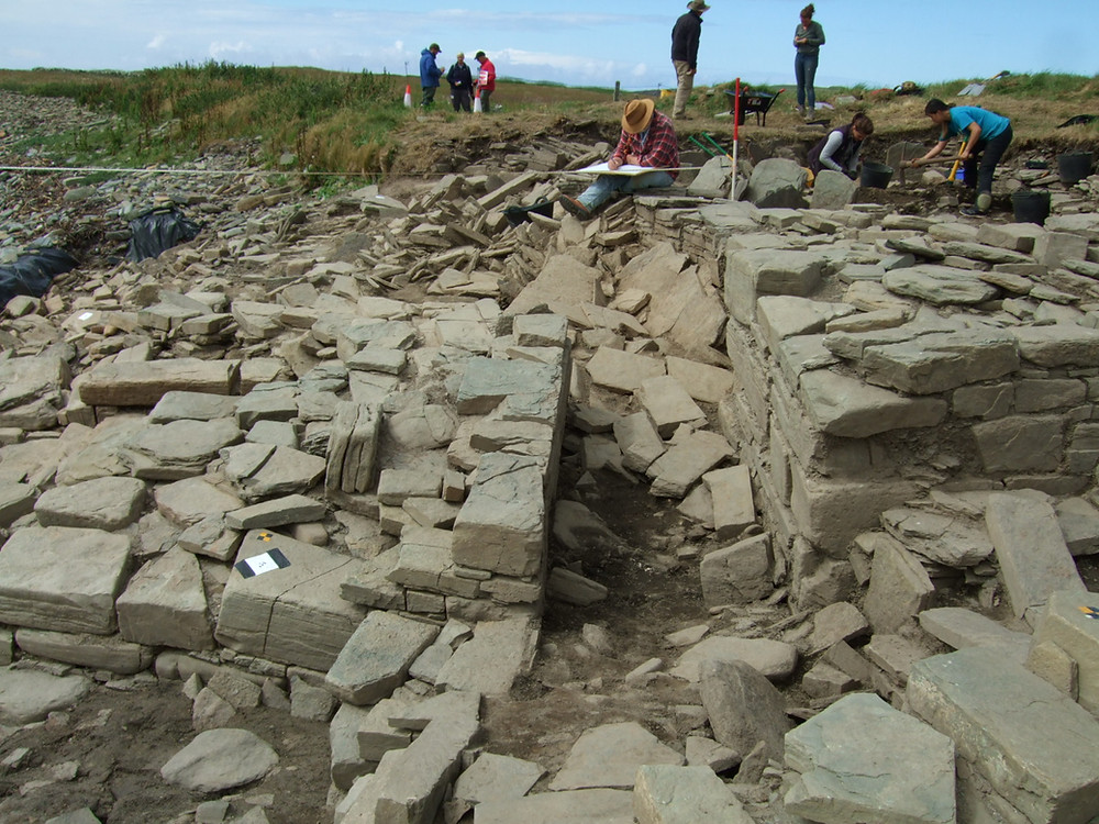 The chambered tomb passageway at Swandro in Rousay