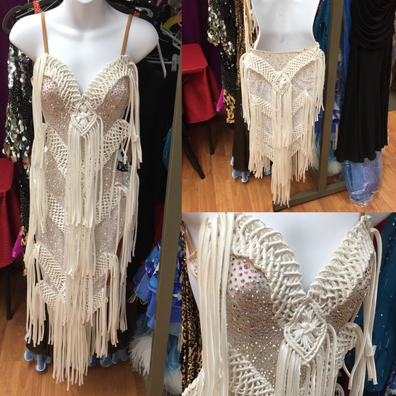 White Latin Dress for SALE!!